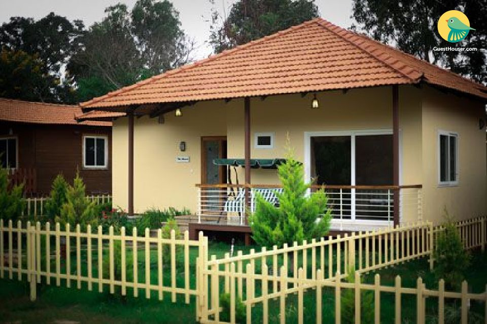 Mesmerizing private villa with shared pool in chikmagalur