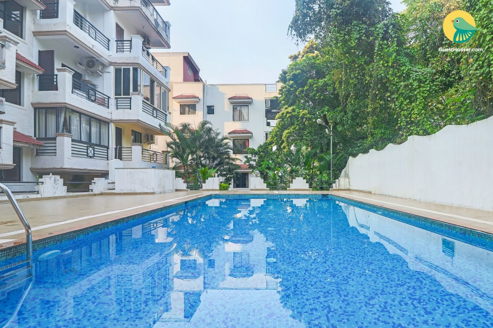 Modish 2-BHK for six, near Chapora Beach