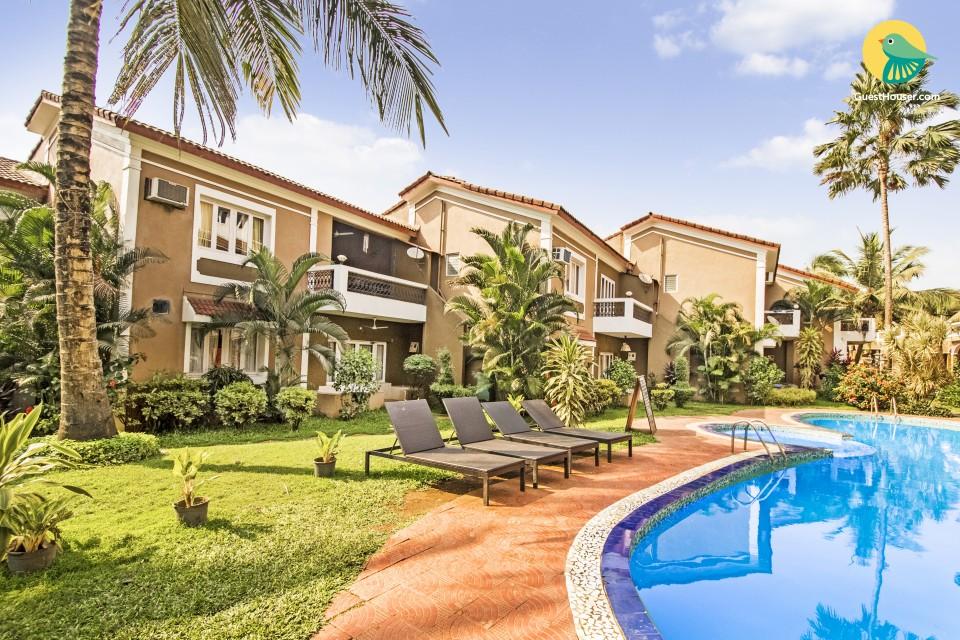 1 BHK apartment near Candolim Beach