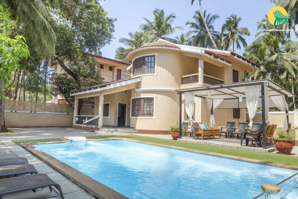 Elegant 3-BR villa with a pool, near Calangute Beach