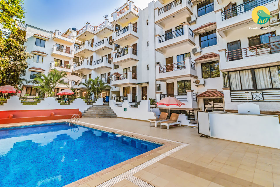Vibrant 2-BR apartment, 1.7 km from Vagator Beach