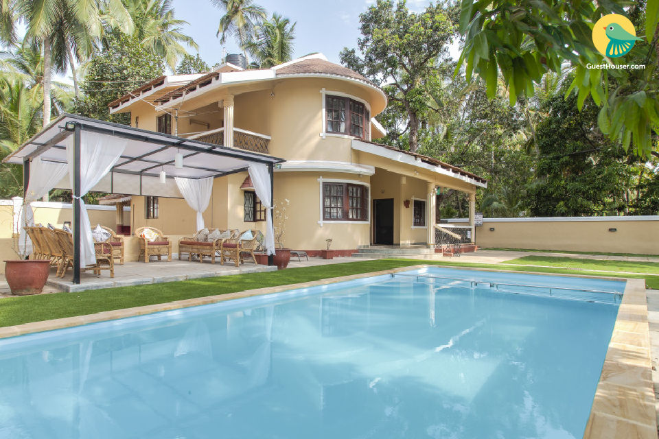 Lavish three-bedroom villa, 2.8 km away from Calangute Beach