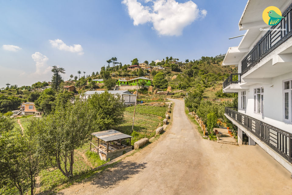 Hillside retreat for three, ideal for backpackers