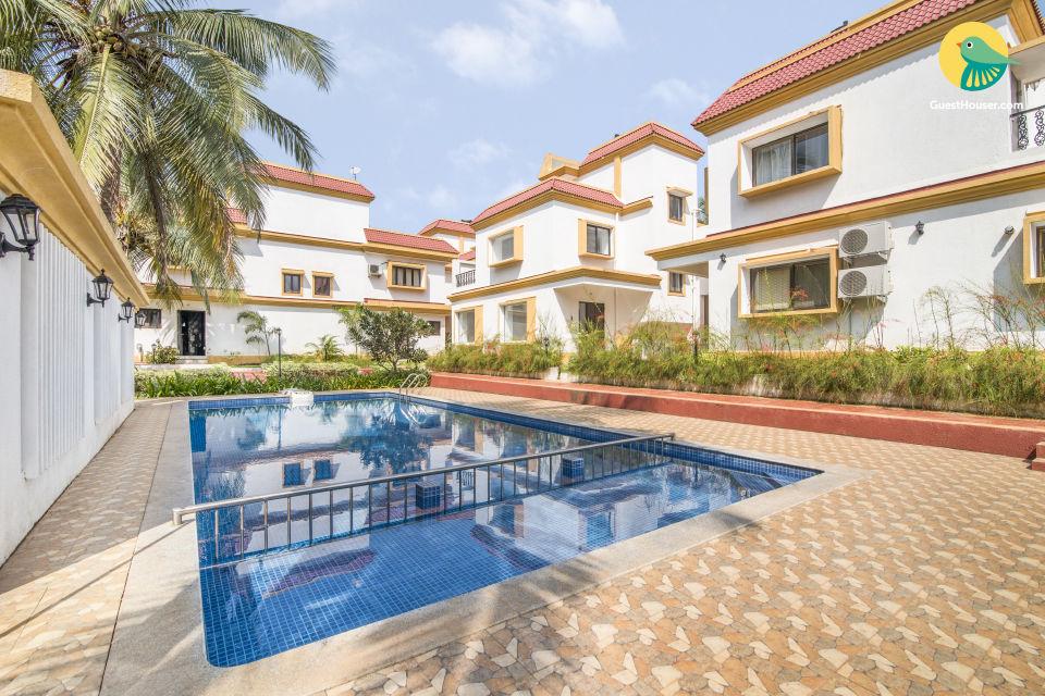 3-BR pool villa, close to Anjuna Beach