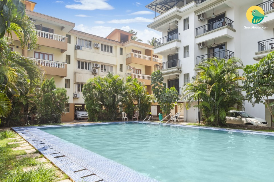 2-BR apartment with a shared pool