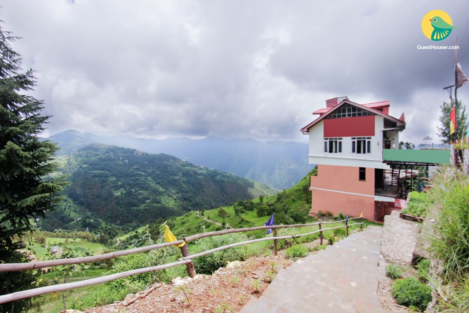 Hill-side stay for a backpacking holiday