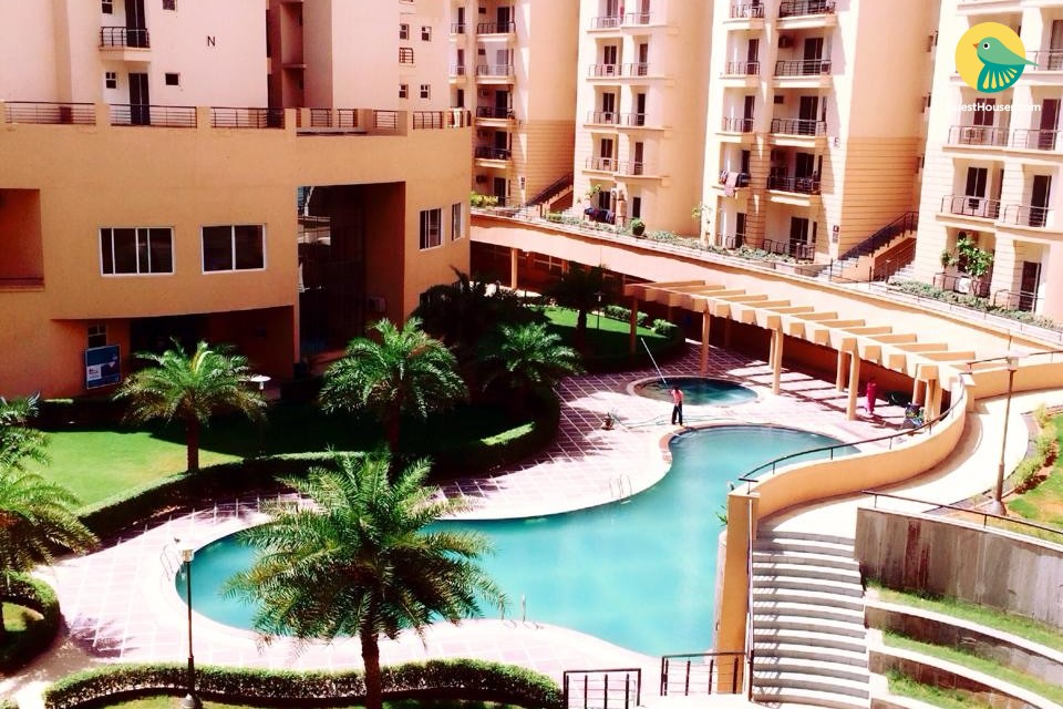 Pool-facing 3 BHK, in proximity to Jaipur Airport