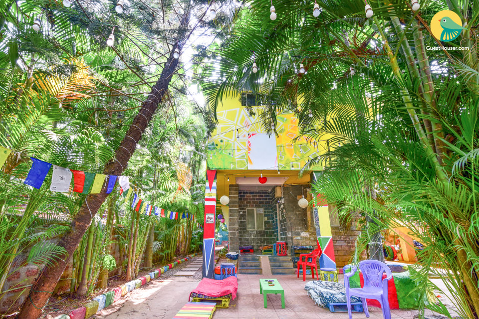Comfy 6-bedded dorm, 1 km away from Anjuna Beach